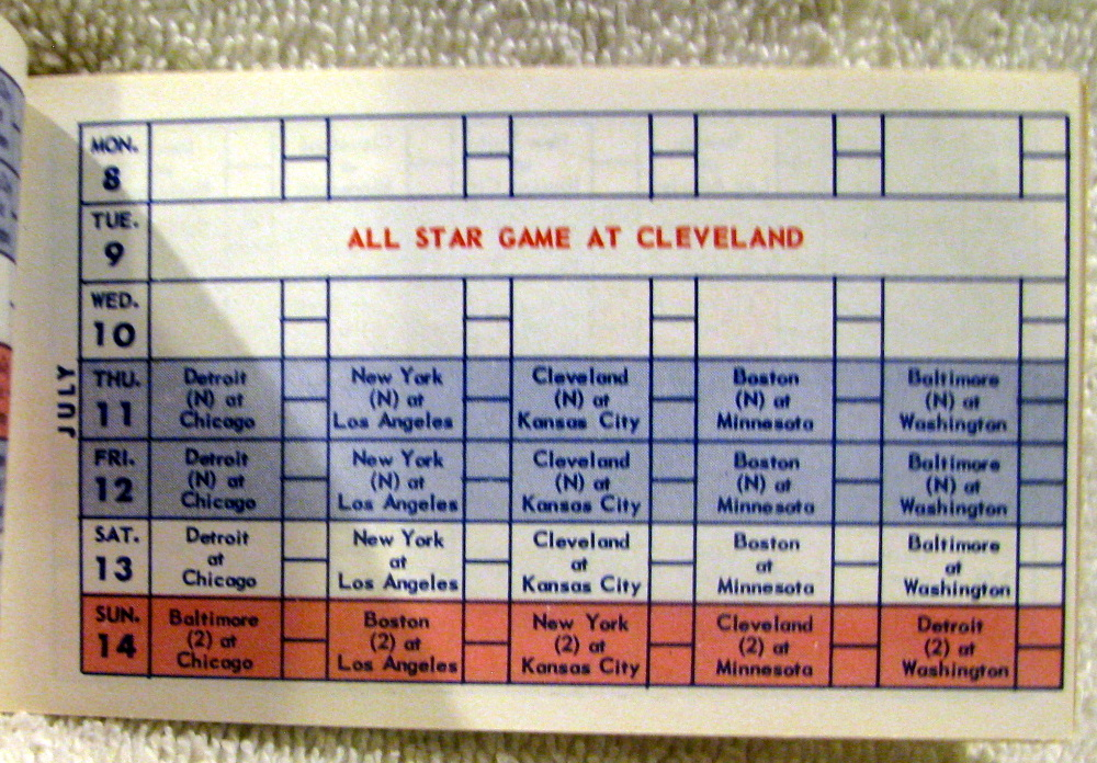 Lot Detail - 1963 AMERICAN LEAGUE SCHEDULE BOOKLET - CHICAGO WHITE