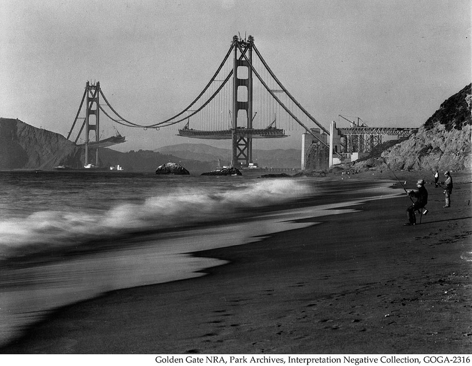 Suicide Barrier Under Construction at the Golden Gate Bridge