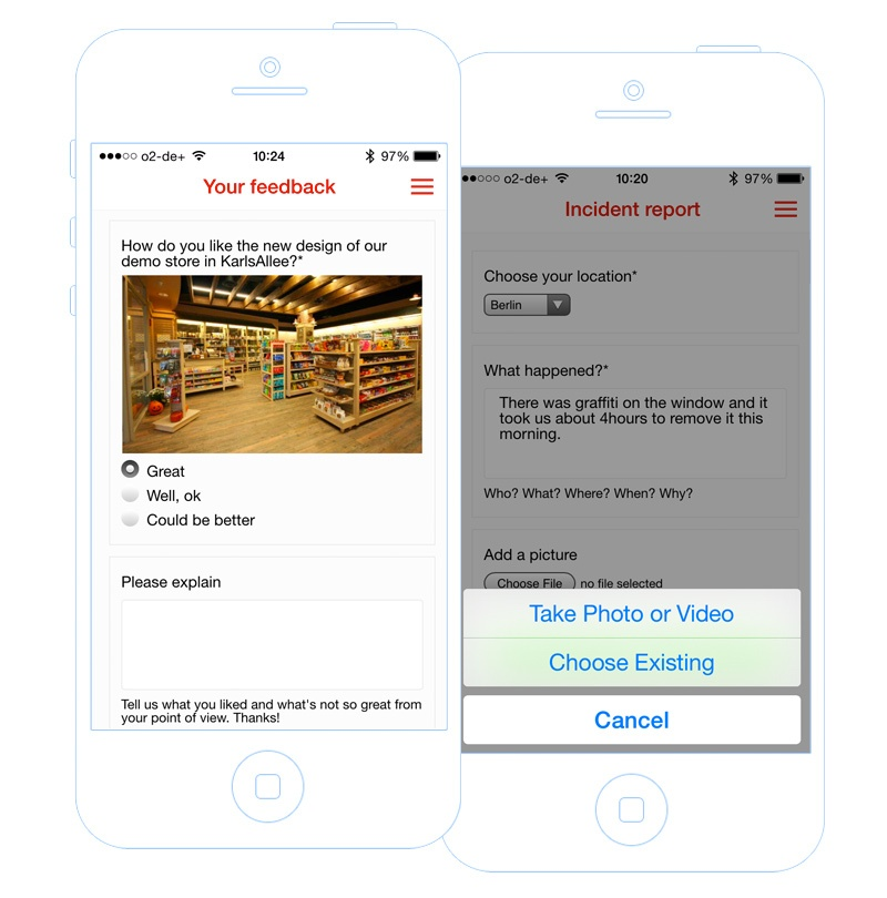 Receive feedback from your field employees with mobile forms in your