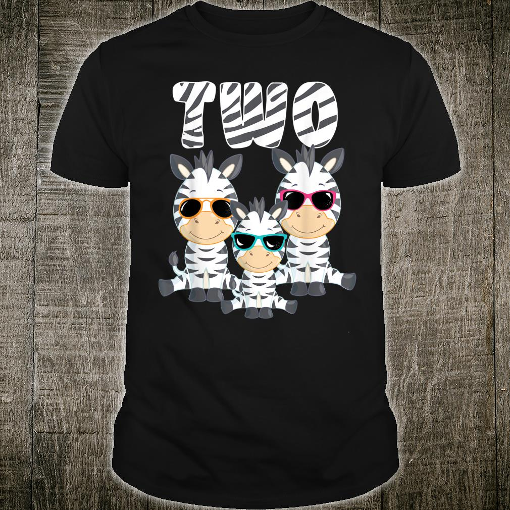 Toddler 2 Years Old Birthday Cool Zebra 2nd Birthday Party 2 Year Old Toddler I M Two 2 Shirt