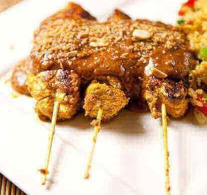 Chicken satay | insimoneskitchen.com