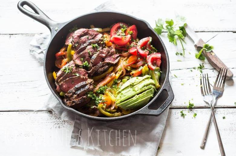 Whole30 approved beef fajitas | insimoneskitchen.com