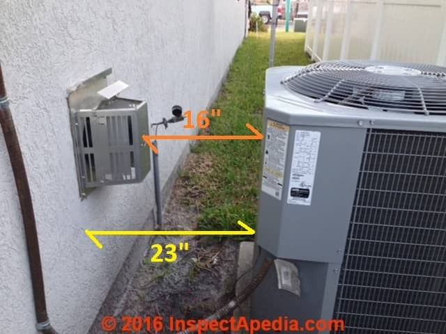 Clearance Distances For Air Conditioner Heat Pump