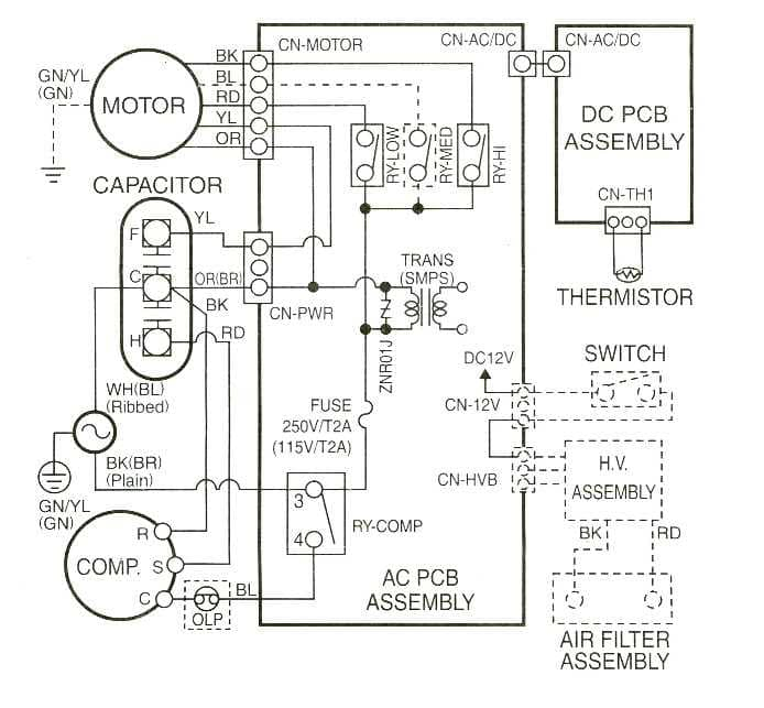 the wiring diagram of forced air conditioning and air rheem ruud