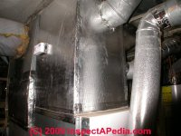 Fiberglass air duct insulation: rigid duct insulation ...