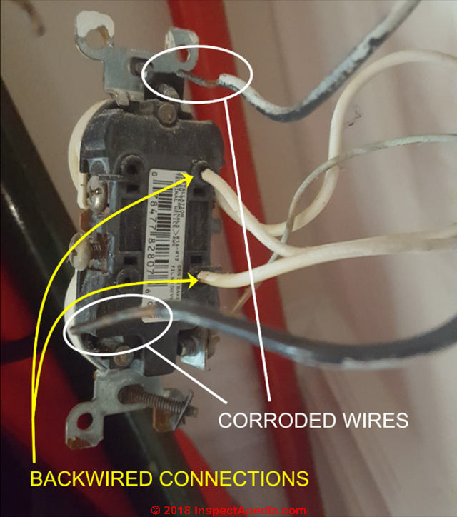 Loss of electrical power on a backwired electrical circuit