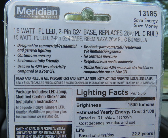 Replace a fluorescent tube G24 bulb with an LED G24 light bulb