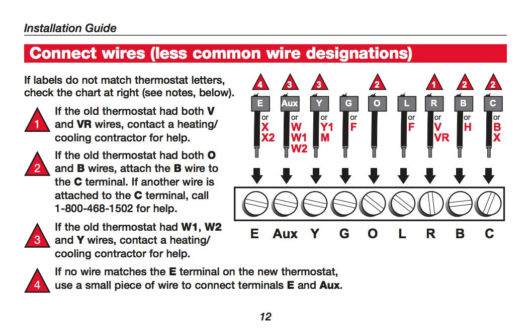 8 wire honeywell thermostat rth221 series wiring diagram