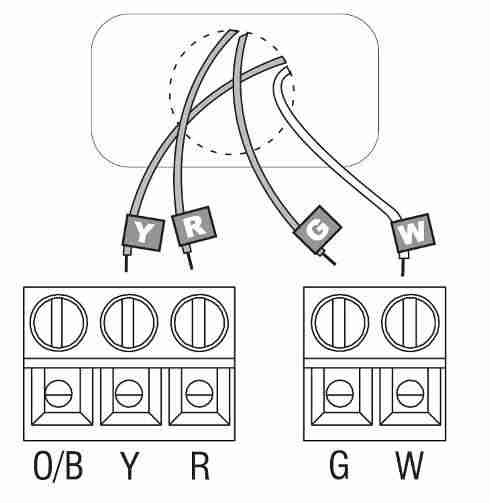 4 wire thermostat wiring diagram heat only