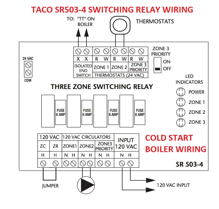 taco sr504 wiring diagram