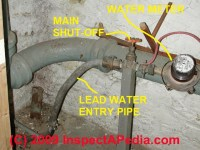 Lead Plumbing Pipes: how to identify lead water supply ...