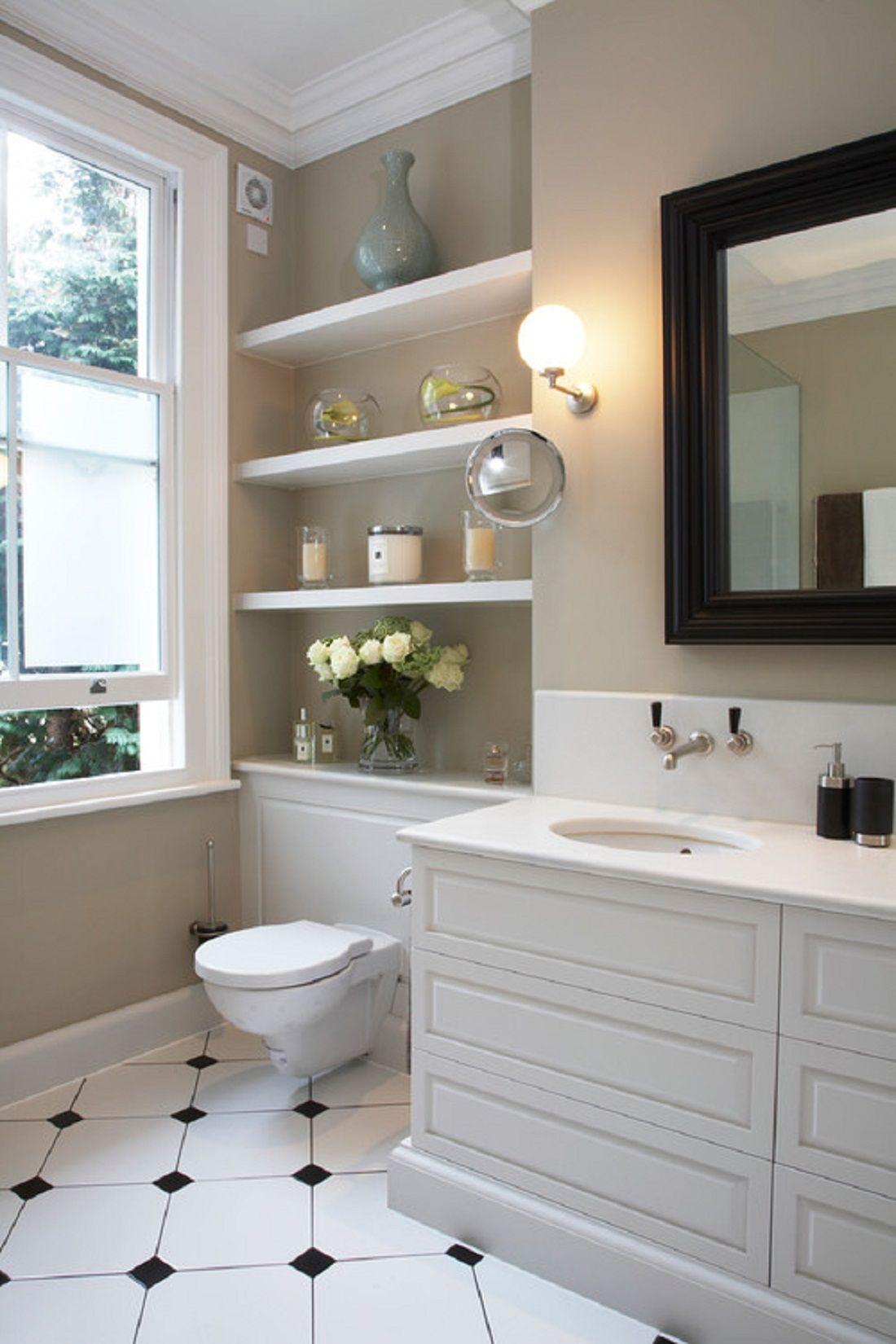 Aprovecha el inodoro como espacio de almacenaje para un ba o peque o - Almacenaje para banos ...