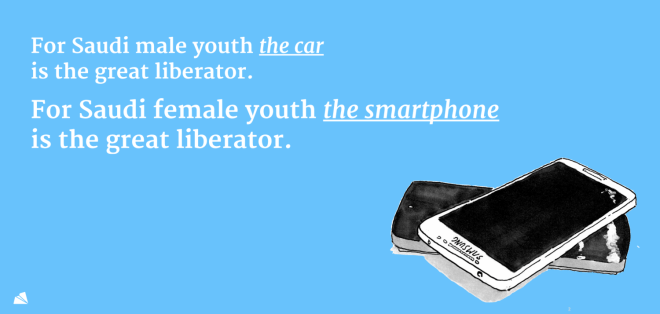 For Saudi female youth the smartphone is the great liberator