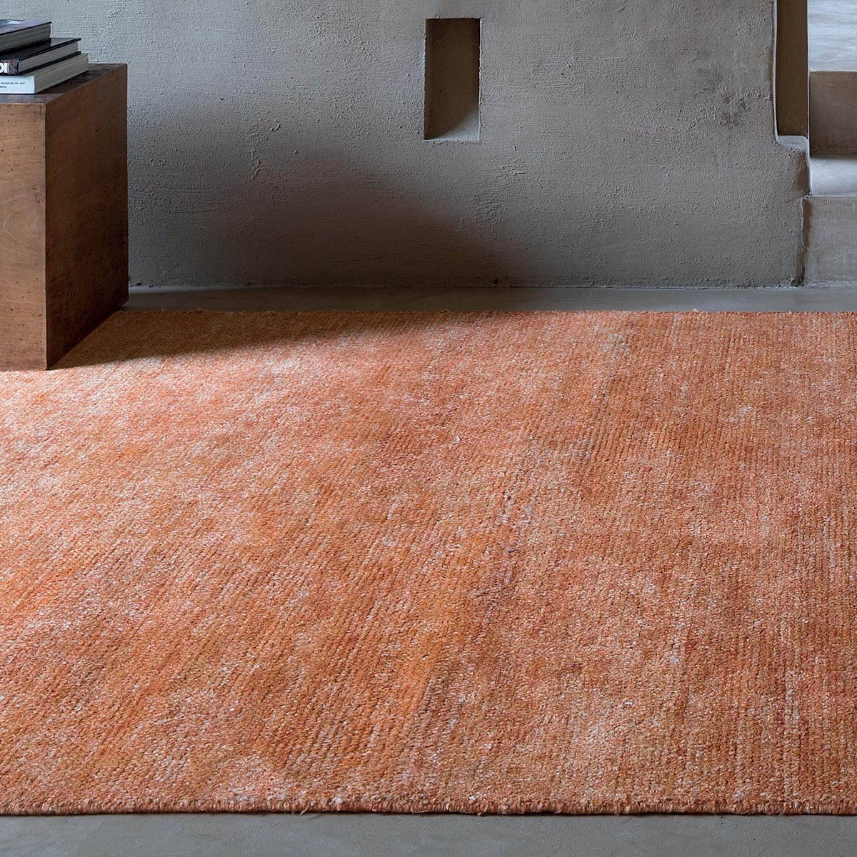 Tapis Orange Et Gris Tapis Sur Mesure Orange En Viscose Tissé à La Main Et Fin