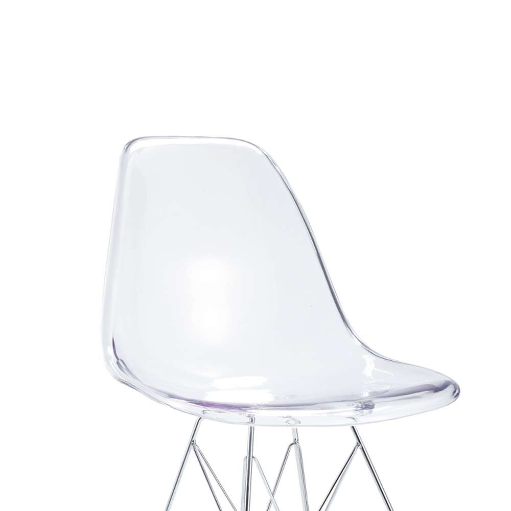 Lot 4 Chaises Transparentes Lot De 4 Chaises Transparente Design En Polycarbonate
