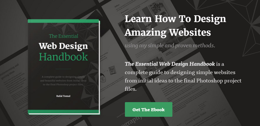 Rafal Tomal released an incredibly good eBook focused on web design. Imagine the benefits if you released something even half as good.