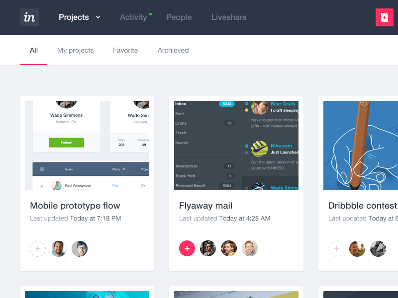 Invision app design evolution by Frantisek Kusovsky