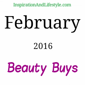 February 2016 beauty purchases