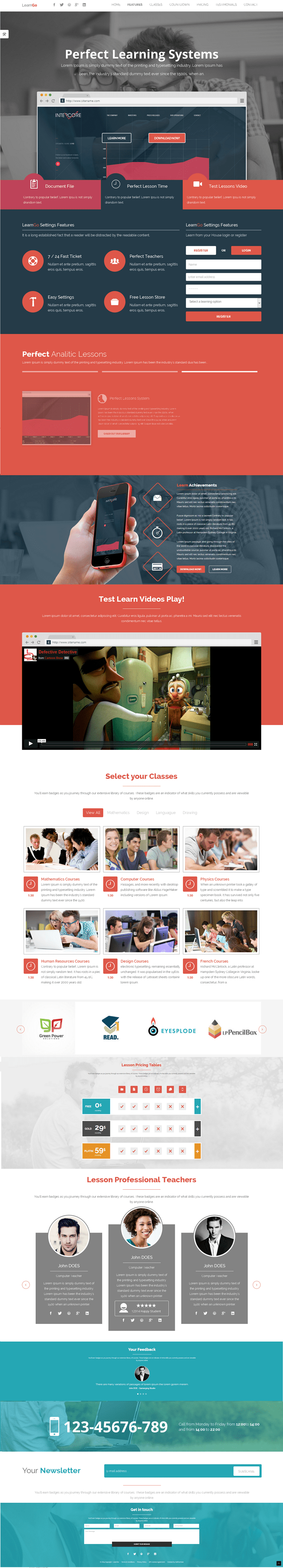 Badeinrichtung Software Learngo Is A One Page Education Learning Html Landing Page