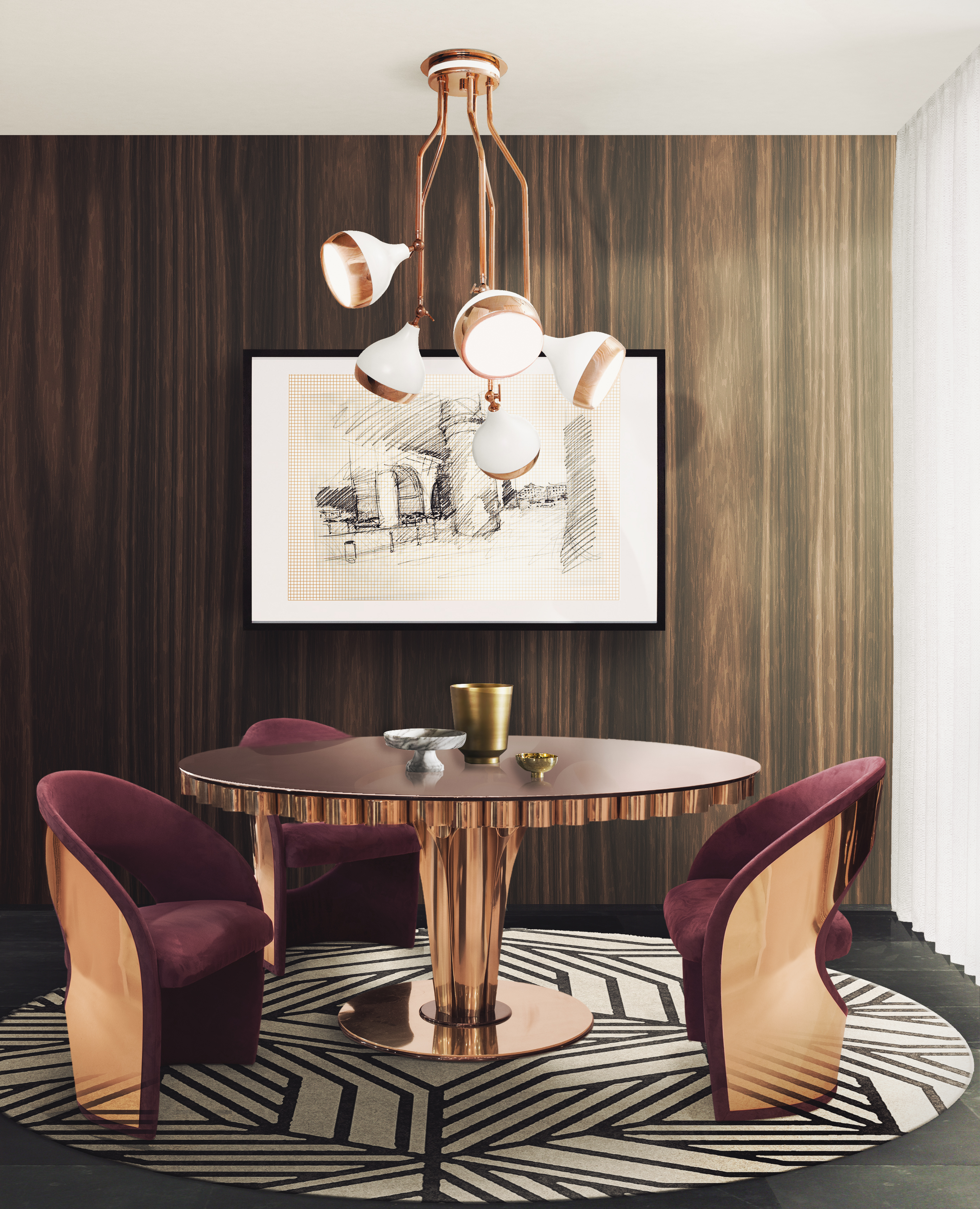 Dining Room Ideas Blog Deep Colors And Velvet Texture
