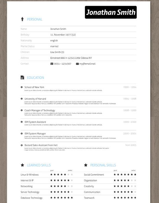 creative resume icons