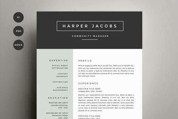 Trendy Top 10 Creative Resume Templates For Word Office 30 Sexy Resume Templates Guaranteed To Get You Hired