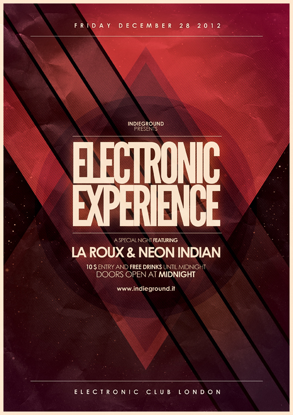 40 Creative Party and Club Flyers Inspirationfeed - electro flyer