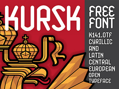 kursk by jorge dias 50 Free Fonts Youll be Tempted to Download