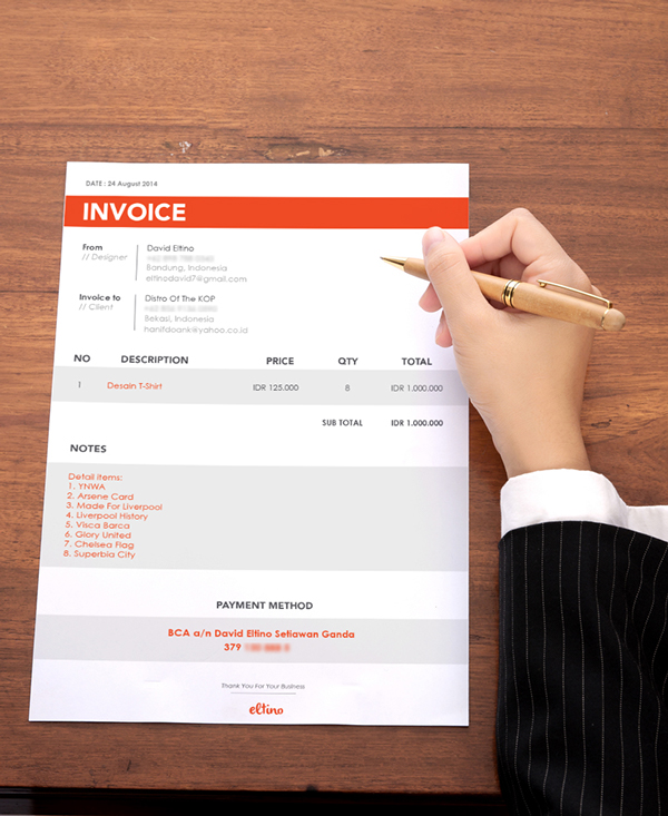 Don\u0027t Hold Back on Your Invoice 25 Inspiring Designs Inspirationfeed - designing an invoice