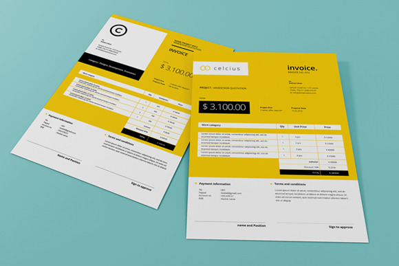 Don\u0027t Hold Back on Your Invoice 25 Inspiring Designs Inspirationfeed
