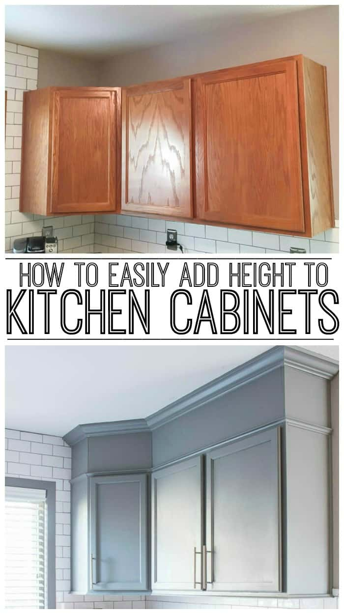 Should Kitchen Cabinets Go Up To Ceiling How To Easily Add Height To Your Kitchen Cabinets Inspiration