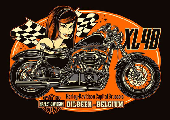 Girl Skateboards Wallpaper Bad Ass Classic Pin Up And Motorcycle Illustrations By