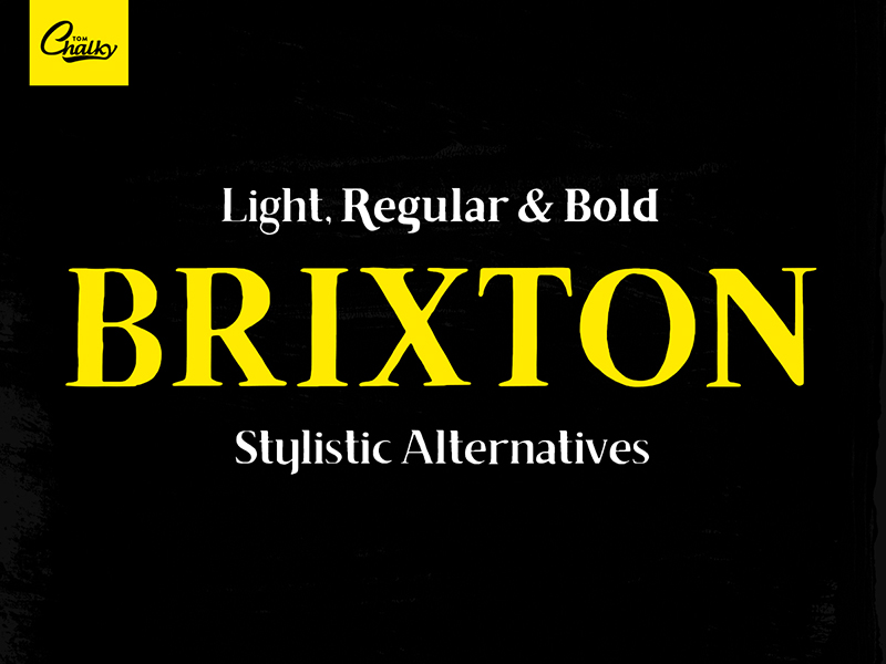 Free Brixton Font by Tom Chalky