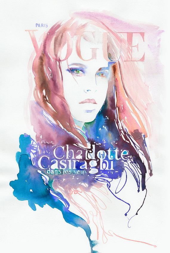 vogue watercolor