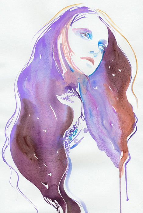 long hair painting