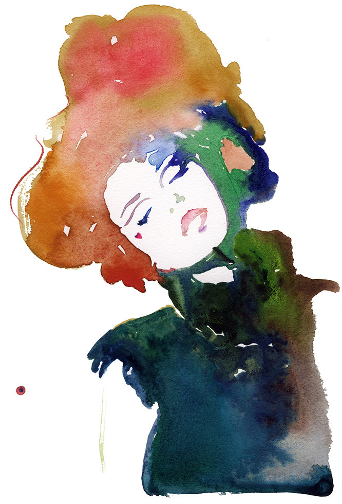 ink and watercolor paintings