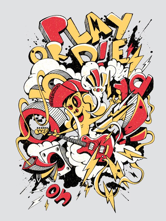 graffiti style illustrations