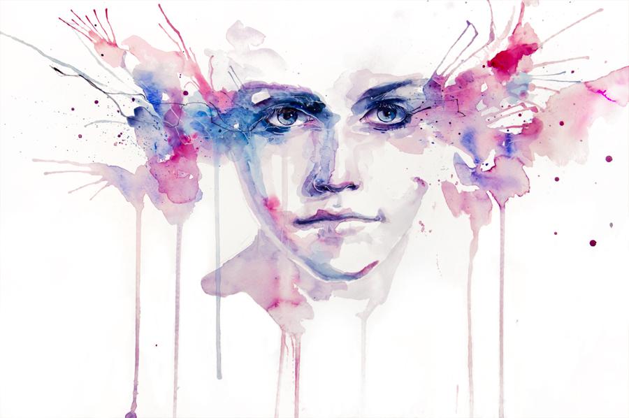 watercolor portrait 3