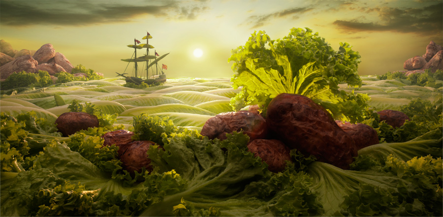 Carl Warner foodscapes