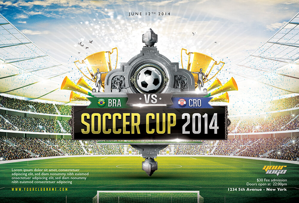 Soccer poster template 577015 - potentielinfo