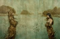 Gold and Silver Leaf Paintings by Brad Kunkle