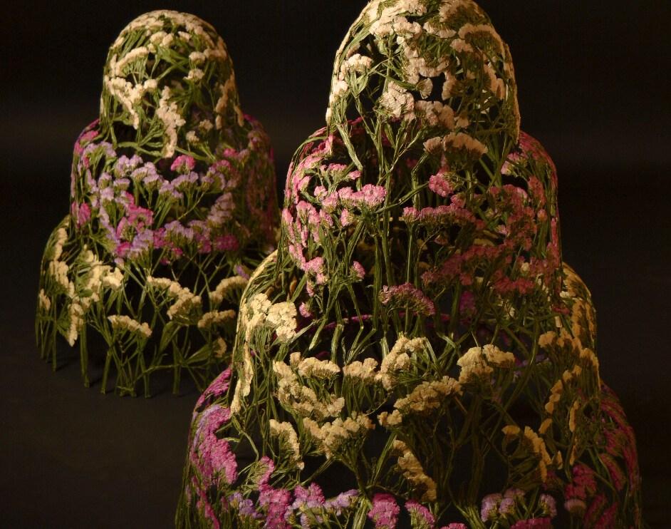 Pressed Flower Sculptures