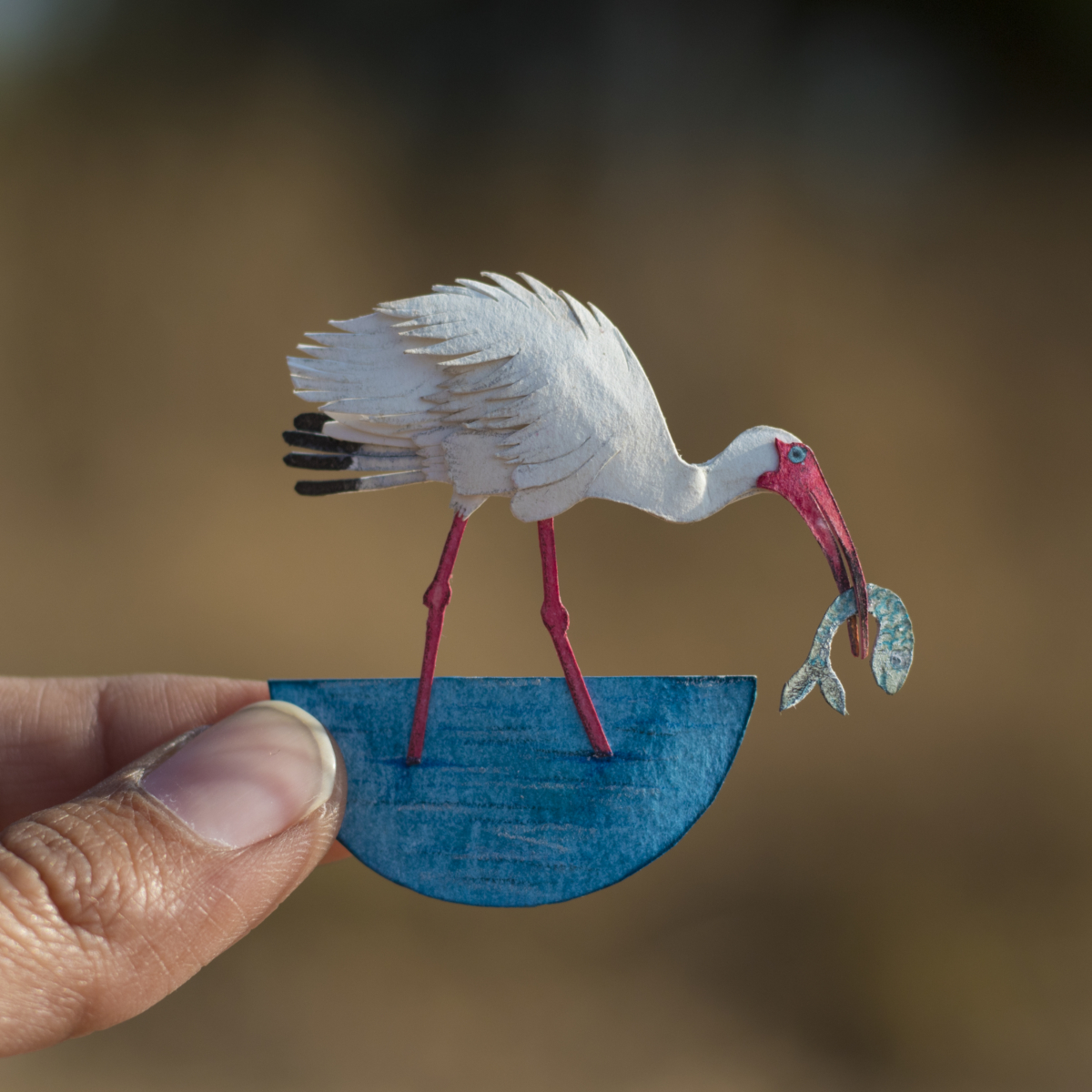 Paper Bird Sculpture Intricate Miniature Paper Bird Art By Nayan And Vaishali