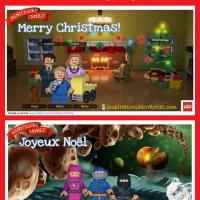Make Your Own LEGO Minifigure Family Christmas Card