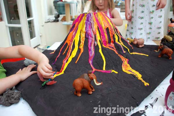 10 Ways To Make A Volcano With Kids Inspiration Laboratories