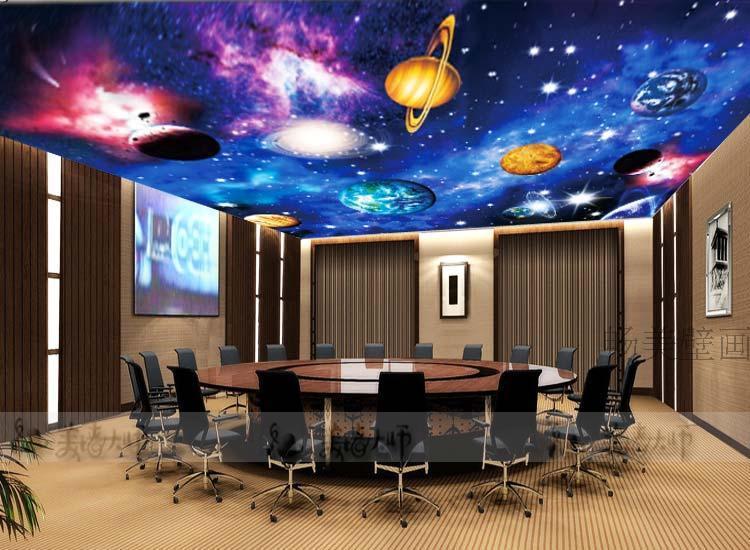 3d Wallpaper Red Blue 27 Ceiling Wallpaper Design And Ideas Inspirationseek Com