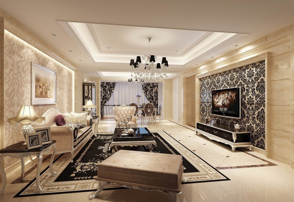 Wallpaper Design For Living Room that Can Liven Up The Room - wallpaper ideas for living room