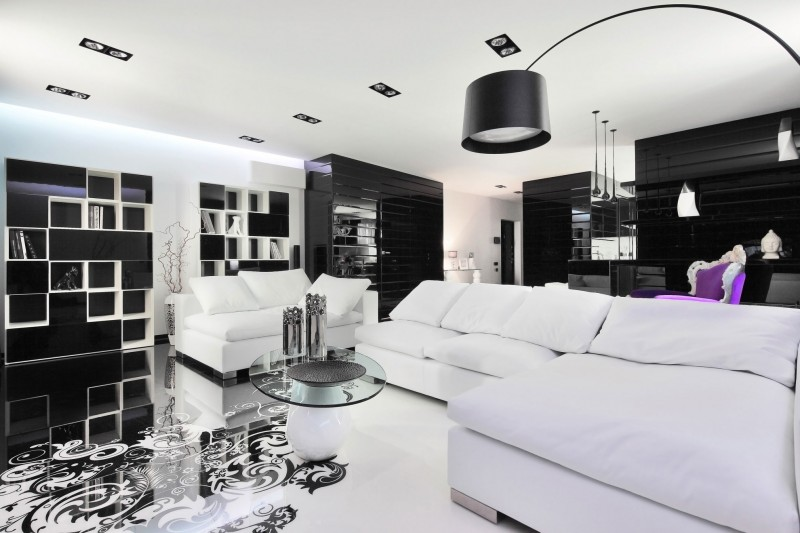 Black and White Living Room Design and Ideas - InspirationSeek - black and white living room decor