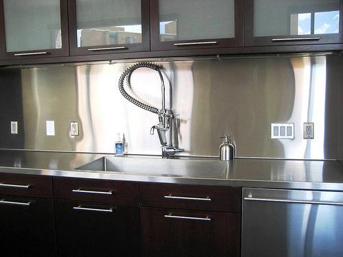 stainless steel solution kitchen backsplash inspirationseek steel subway tile kitchen backsplash painted shaker furniture