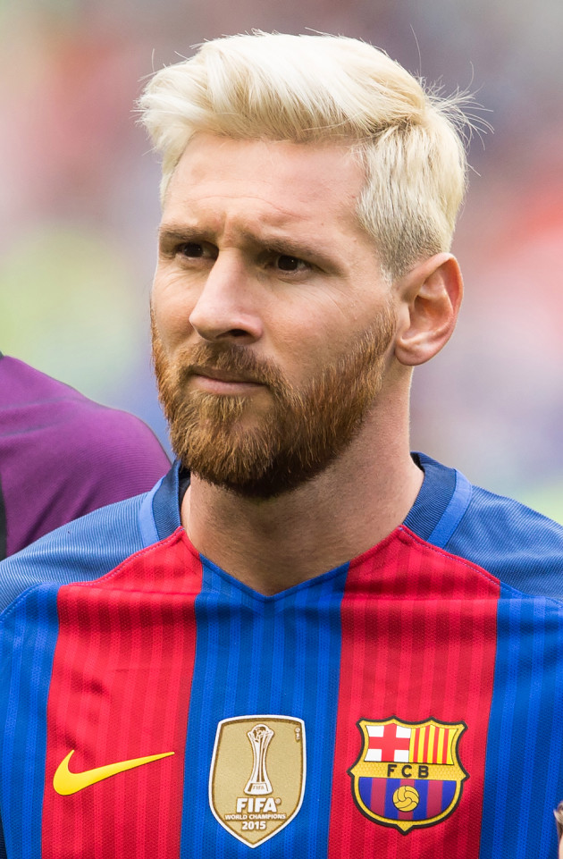 Barca Girl Wallpaper Lionel Messi Blonde Hairstyle 2016 Inspirationseek Com
